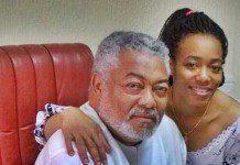 Dr. Zanetor Agyeman and former president Rawlings