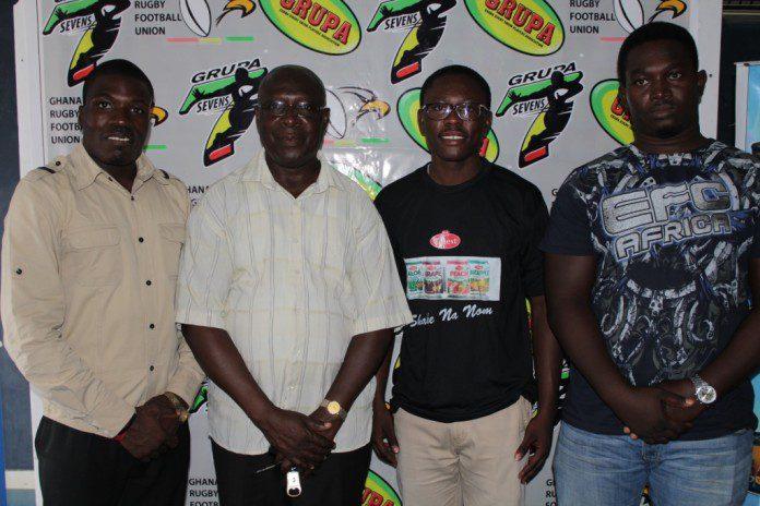 From left, Mr. Marshall Nortey, Mr steve Noi , a member of GRUPA and Mr. Michael Ako Wilson