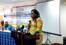 Minister for Gender , Children and Social Protection Hon. Nana Oye Lithur