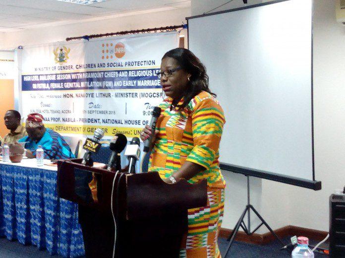 Minister for Gender , Children and Social Protection Hon. Nana Oye Lithur