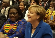 Nana Oye Lithur at UN with German Chancellor