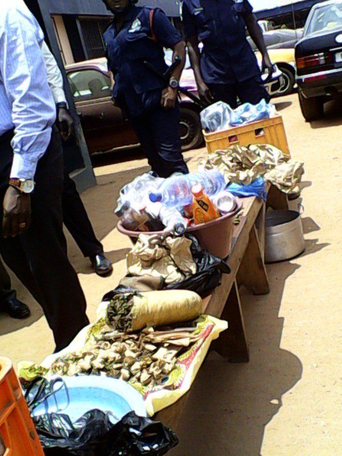 Police displays narcotics