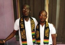 Daniel Mensah Dei 1st from right with Dr. Nyarkotey on awareness campaign