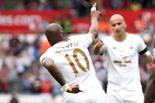 Andre Ayew will play no further part in the English League Cup this season