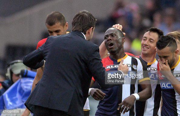 Emmanuel Agyemang-Badu is worried by Udinese losing streak