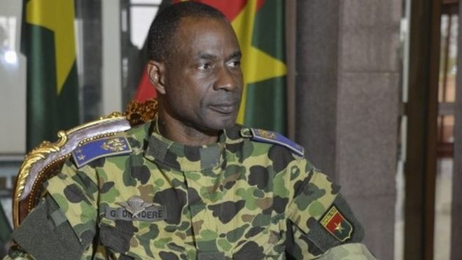 General Diendere pledged the interim president would be back in charge later on Wednesday