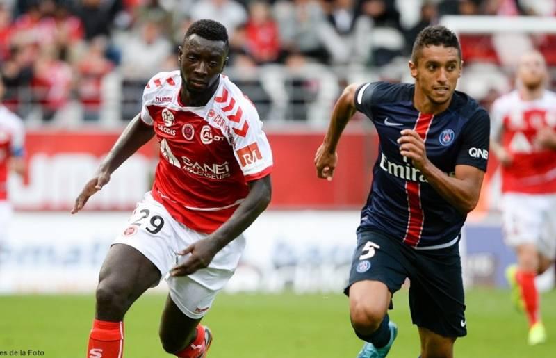 Ghanaian forward Grejohn Kyei,vying with Paris Saint-Germain's defender Marquinhos, is set to make injury return