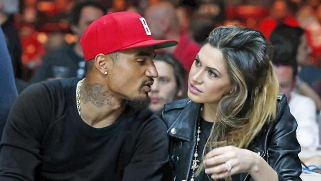 Kevin Boateng and Melissa Satta