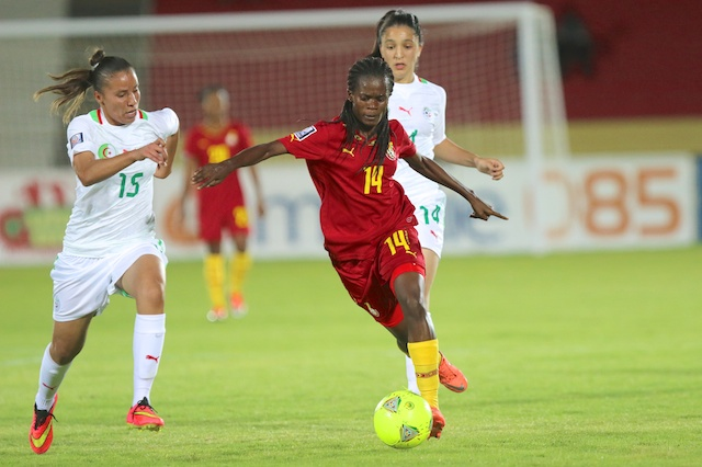 Mercy Myles in action for the Black Queens.