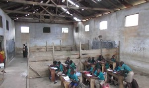 The shed, which has been improvised to serve as classrooms for the past 10 years