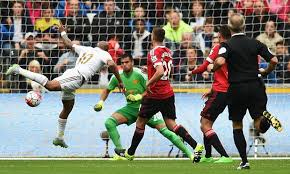 Andre Ayew's goal against Manchester United