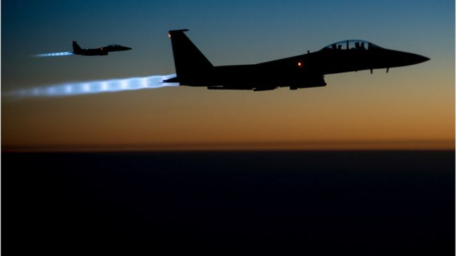 The US has been conducting air strikes against IS since August 2014