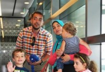 Baher Mohamed and his family