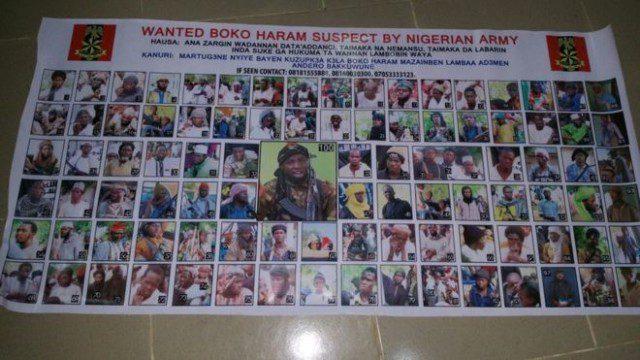 Boko Haram wanted list