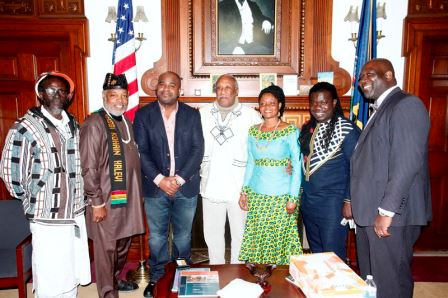 Daddy Bosco, Rabbi Kohain, Mayor Davis, Deborah Freeman, Obour, Phil Black