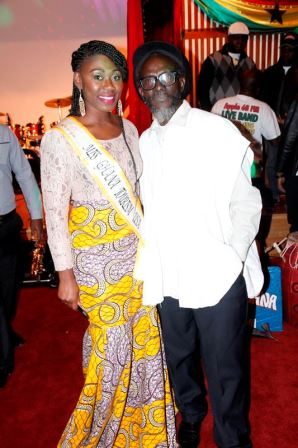 Daddy Bosco with Miss Tourism US