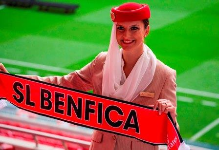 Emirates Cabin Crew thrill Benfica fans