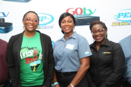 L-R: Caroline Oghuma, Public Relations Manager, MultiChoice Nigeria; Kofo Awonuga, Financial Manager, PEP and Aderoju Ope-Ajayi, Channel Relationship Manager, MultiChoice Nigeria during the Media Briefing for MultiChoice/PEP Partnership announcement held at PEP office Allen, Ikeja Tueday, 27 of October, 2015.