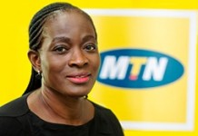 Corporate Services Executive of MTN, Mrs. Cynthia Lumor