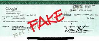 Fake cheque