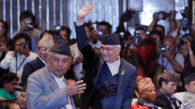 Khadga Prasad Sharma Oli is Nepal's newly-appointed prime minister.