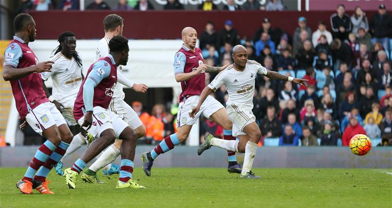 Andre Ayew scored his fifth Premier League goal of the season against Aston Villa at the weekend.