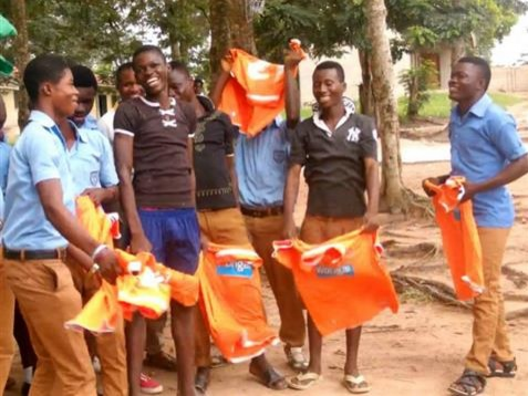 Blackpool donate kits to Ghanaian youngsters