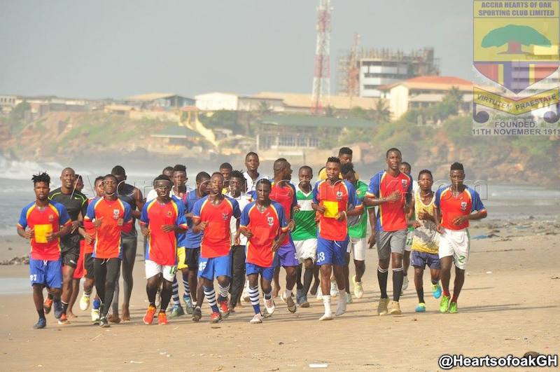 Hearts of Oak training at the beach.
