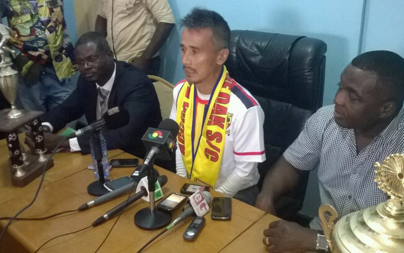 Kenichi Yatsuhashi was unveiled as the new coach for Hearts on Wednesday