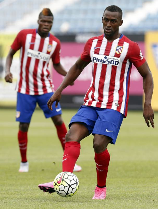 Thomas Partey training with Jackson Martinez has been left out of the Atleti squad