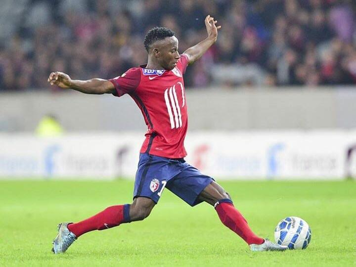 Yaw Yeboah in action for Lille