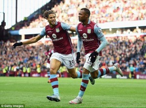 Pressure on Ghana striker Jordan Ayew eased when he scored his first English Premier League goal in his Aston Villa side's match against Swansea City on Saturday.