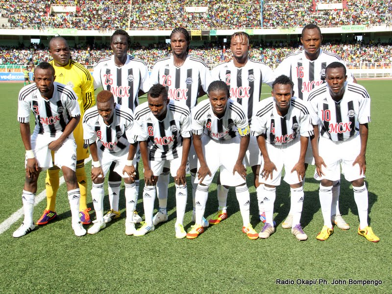 L'équipe du TP.Mazembe le 15/04/2012 au stade des Martyrs à Kinshasa, lors du match contre l'AS-V. Club. Radio Okapi/ Ph. John Bompengo
