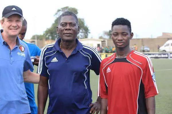 WAFA skipper Gideon Waja with coach