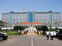 Photo taken on Nov. 6, 2015 shows a view of the refurbished parliamentary office in Accra, capital of Ghana. China'S State Hualong Construction Ghana Limited handed over here on Friday the completed refurbished office structure to Ghana's parliament. (Xinhua/Lin Xiaowei)