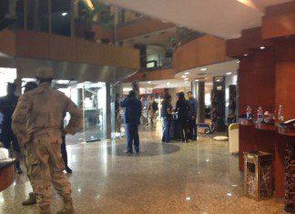 Photo taken on Nov. 21, 2015 shows the lobby of Radisson Blu hotel in Bamako, Mali. (Xinhua/Wang Meng)
