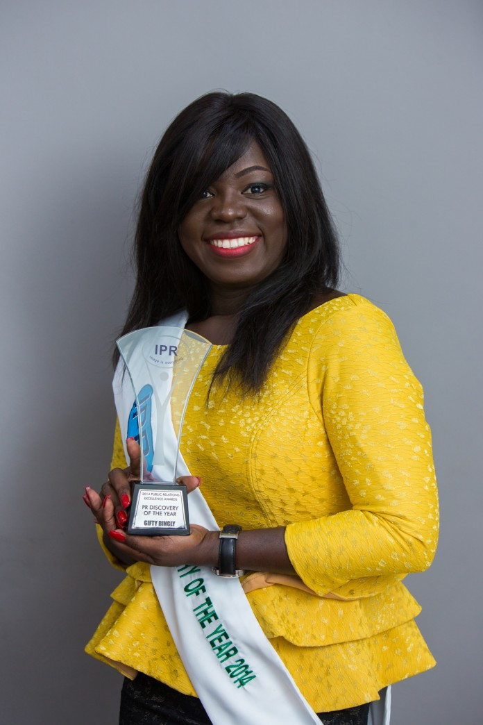 PR Discovery of the year Gifty Bingley (Tigo Ghana)