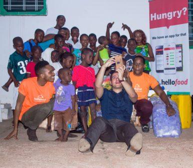 Hellofood marks World Hunger Day - Donation to Teshie Orphanage