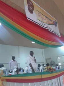 Mr Patrick Boamah and Ex President Kufuor at the launch