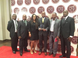 A GROUP PICTURE OF THE MTN TEAM AT THE AWARDS CEREMONY