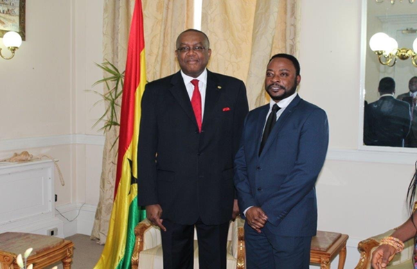 Mr Victor Smith, Ghana High Commissioner (UK and Ireland) and Mr Douglas Oppong, Founder and Chairman of ActionGhana, at the Ghana High Commission, London.