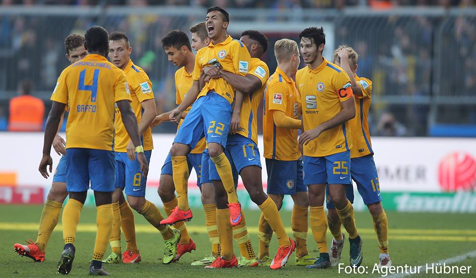 Joseph Baffo commanded his defense well for Eintracht Braunschweig win