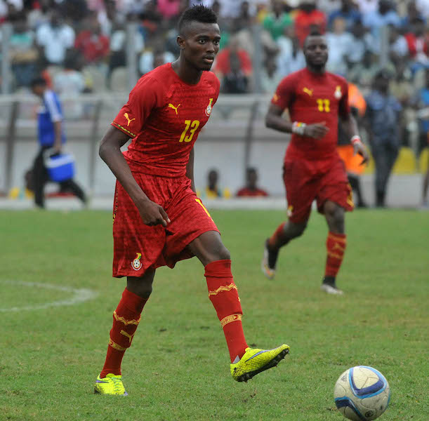 Bernard Mensah of Ghana Black Stars during Afcon Qualifiers on the 14 june 2015 at the Accra Sports Stadium, In preparation for the 2017 African cup of Nation ©Christian Thompson/BackpagePix
