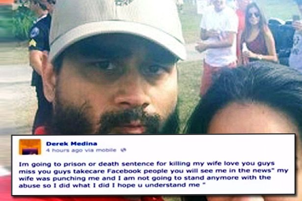 Media captionDerek Medina faces a sentence of 25 years to life