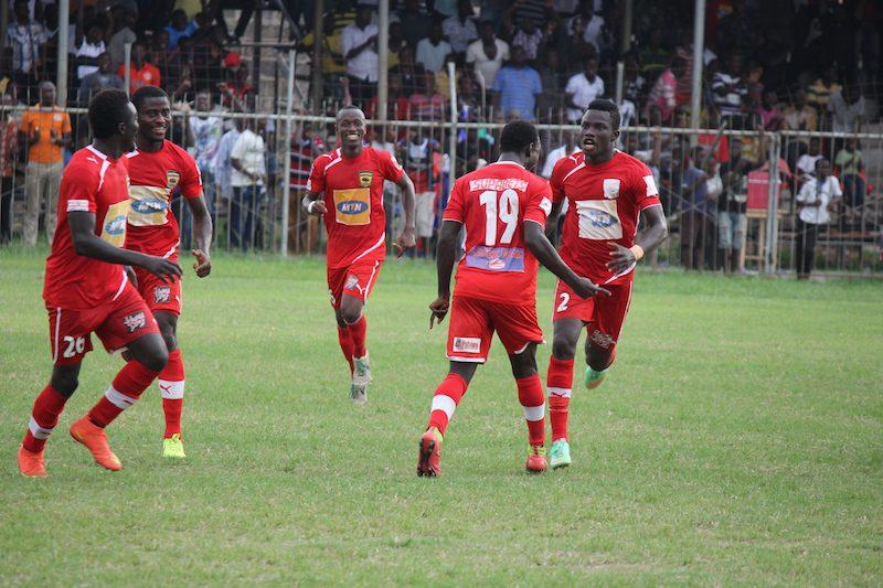 Asante Kotoko players celebrating during last season's MTN FA Cup.
