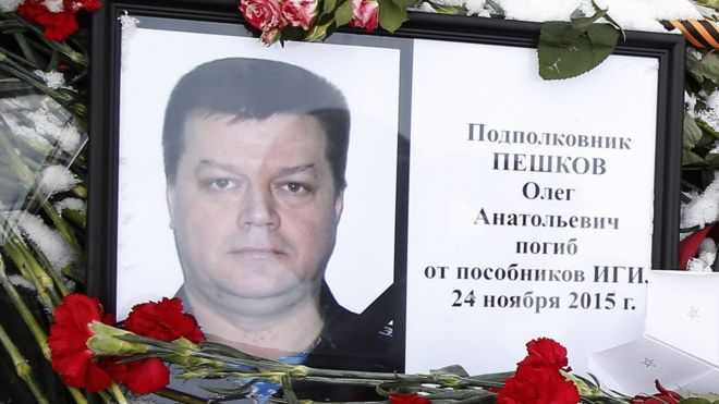 Lt Col Oleg Peshkov and his co-pilot came under ground fire after they parachuted from their burning plane
