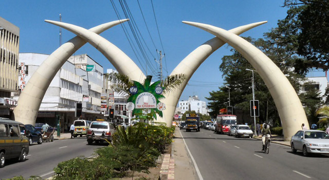 The distance from Mombasa to Nairobi is about 500km