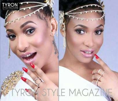 Nollywood actress, Tonto Dikeh, makes a flawless cover girl for Tyron Magazine