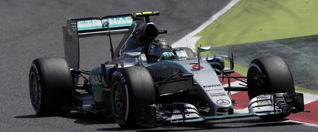 Rosberg leapt from his car at the end of the race and celebrated with the Mercedes team