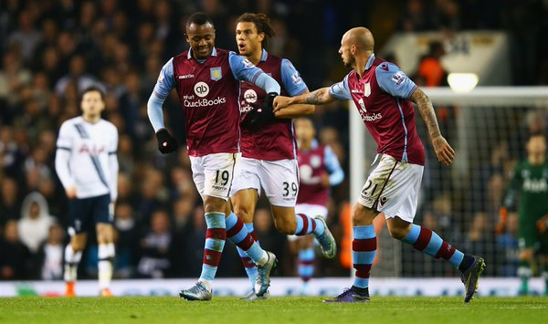 Ghana striker Jordan Ayew scored his second English Premier League goal on Monday night at White Hart Lane but the strike by the substitute did nothing to inspire Aston Villa as they lost 3-1 to Tottenham.